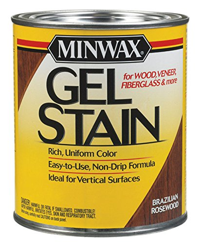 Minwax 66080 1 Quart Brazilian Rosewood Gel Stain Interior Wood