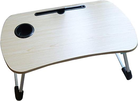 LXMT Mesa para Laptop con Patas Plegables, Desayuno en la Cama o ...