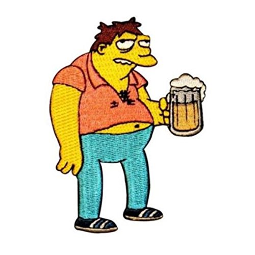 (The Simpsons Barney W/ Beer Patch Moe's Bar Duff Embroidered Iron On Applique)