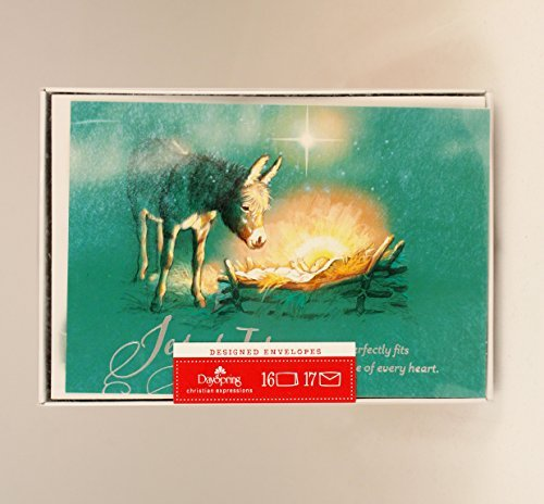 Hallmark Dayspring Holiday Christmas Cards - Jesus is the Gift - 16 Cards in Box with Designed Envelopes - #DSH3215