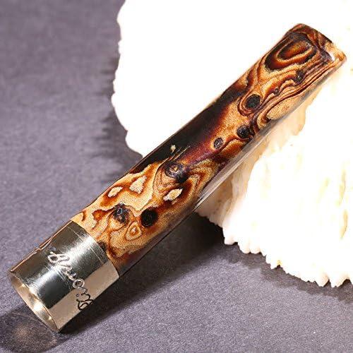 LIULIFE Zigarettenspitze Für Roll Ups Black Coral Mini Ultra Kurz Wiederverwendbar Mit Multi-Filtering Für Männer Und Frauen,Diameter10mm