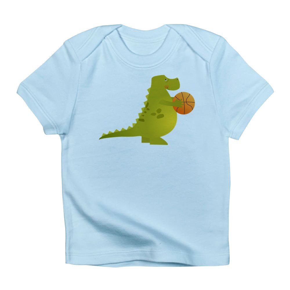 12 To 18 Months Sky Blue Truly Teague Infant T-Shirt Basketball Playing Dinosaur