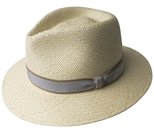 Bailey Of Hollywood Womens 22721 Brooks Hat, Natural/Dusty Blue - L by Bailey of Hollywood