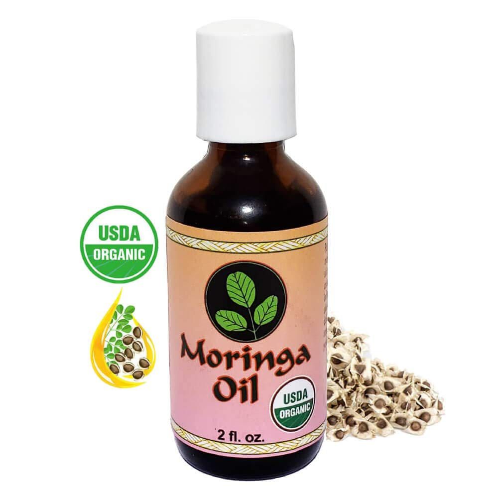 Moringa Energy Oil 2 oz. - Travel size, USDA Organic, 100% Pure Moringa Seed Oil with Cold Pressed Extraction. Use to Rejuvenate and heal dry Skin and Hair with this Moringa Oil organic wellness. by Moringa Energy Life
