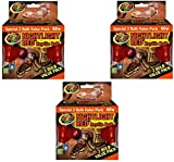 Zoo Med Nightlight Reptile Bulb, 60-watt, Red - 6 Bulbs Total (3 Packages with 2 Bulbs per Package)