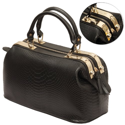 Prada Python Crocodile Patchwork Small Tote Bag