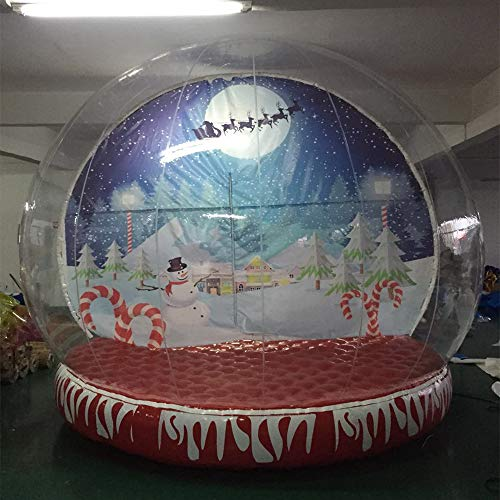 (JYNselling 3/4/5 Meters Christmas Decor Airblown Inflatable Snow Globe Transparent Bubble with Blower (3m) )