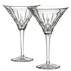 Crystal Lismore Tall Martini Glasses