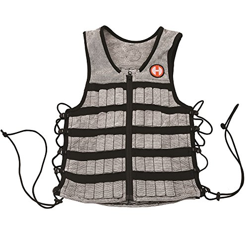 Hyperwear Hyper Vest PRO Adjustable Weight Vest Medium, Comfortable Fabric, Unisex 10-Pound, Functional Fitness Training, Walking Weight Vest, Flexible Material, Side Laces for Custom Fit by Hyperwear (Image #3)