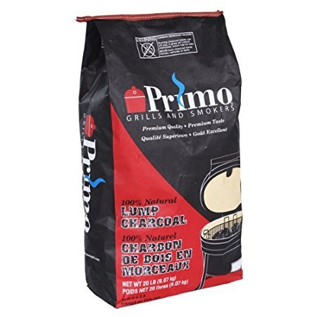Primo 608 Natural Lump Charcoal, 20-Pound bag 2-Pack