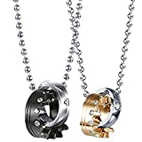 Best Couple Necklace For Lovers - Couples Necklace Crown Ring Pendant Necklaces for Lover Review