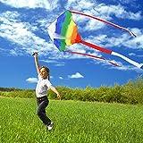 Simxkai Kite for Kids & Adults Easy to Fly Rainbow