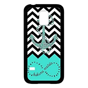 SamSung Galaxy S5 mini Case,Hakuna Matata Infinity Anchor Aztec Tribal Pattern High Definition Personalized Design Cover With Hign Quality Rubber Plastic Protection Case