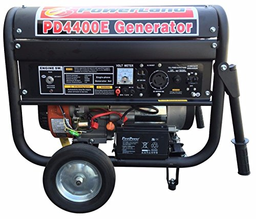 Generators powerland pd4400e 4 4 kw portable gas generator for 5 hp electric motor price