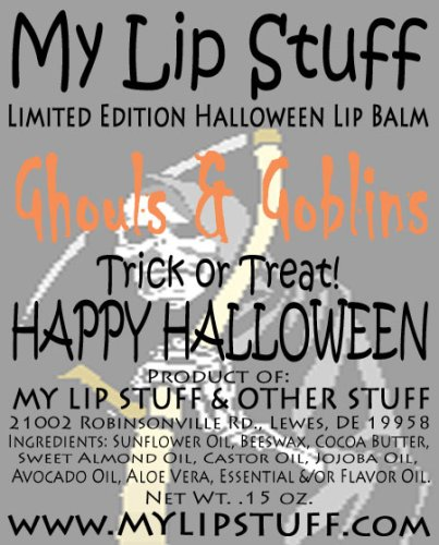 My Lip Stuff- GHOULS & GOBLINS (Pumpkin Pie flavor) LIMITED EDITION HALLOWEEN LIP BALM