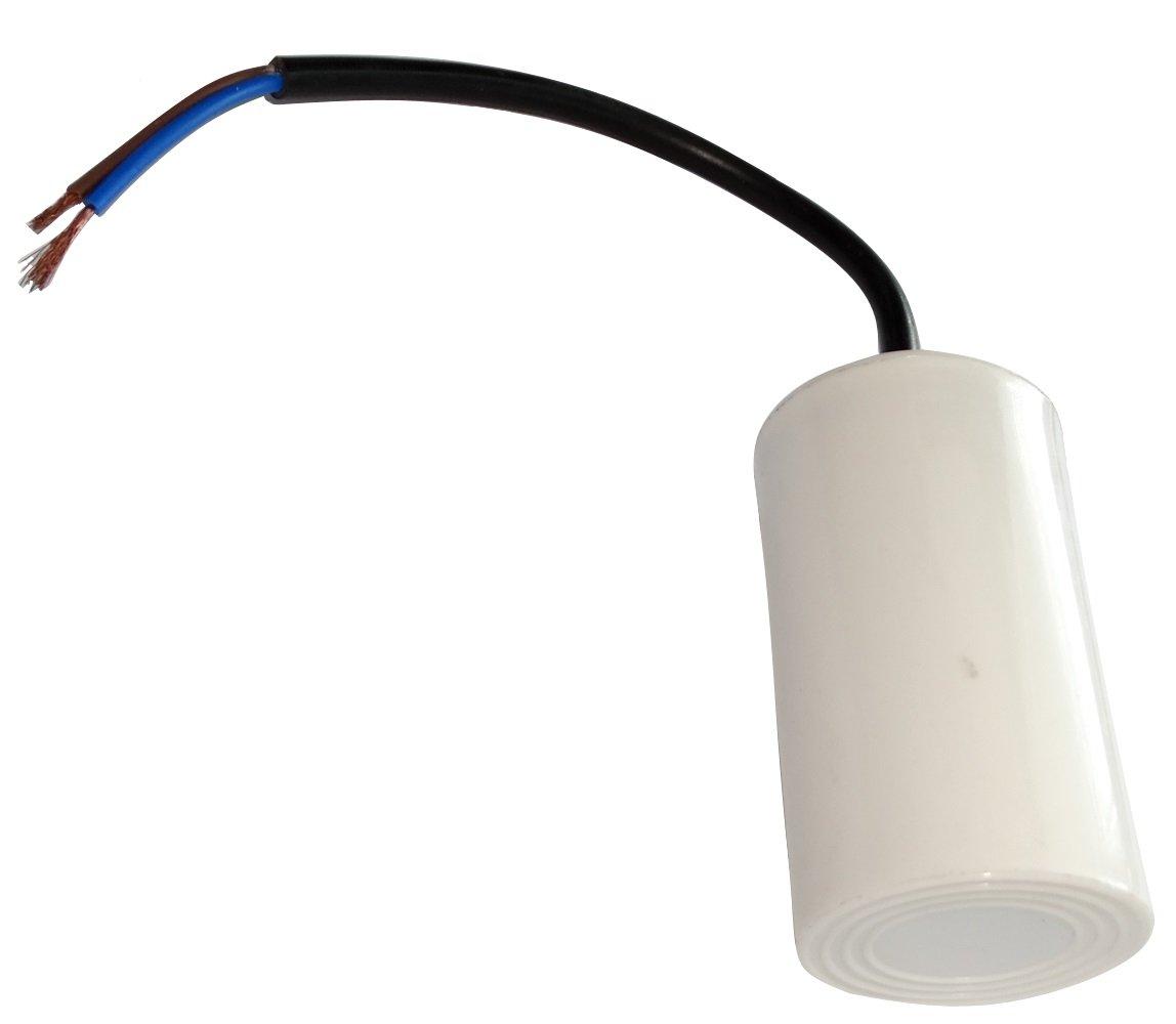 Aerzetix - Condensatore permanente di lavoro per motore 16µ F 450V con cavo Ø 42x70mm ± 5% 3000h C18641-AL630