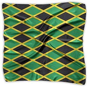 Ladies Vintage Jamaica Flag Pattern Print Square Handkerchiefs Bandanas Head & Neck Tie Scarf