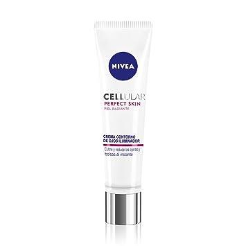 NIVEA Cellular Perfect Skin Contorno de Ojos Iluminador (1 x 15 ml), crema para contorno de ojos, crema antiedad para reducir las ojeras y las bolsas, ...
