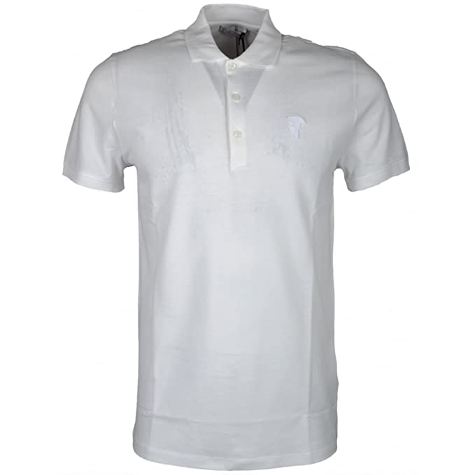 Versace - Polo - para Hombre Blanco Blanco X-Large: Amazon.es ...
