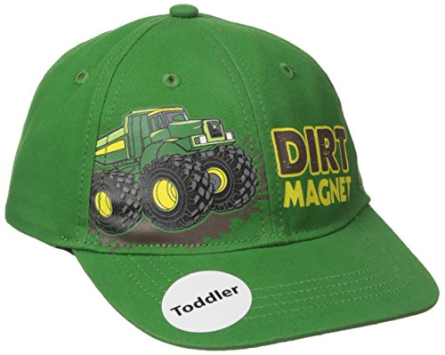 John Deere Toddler Boys' Dirt Magnet Baseball Cap, Green, One Size