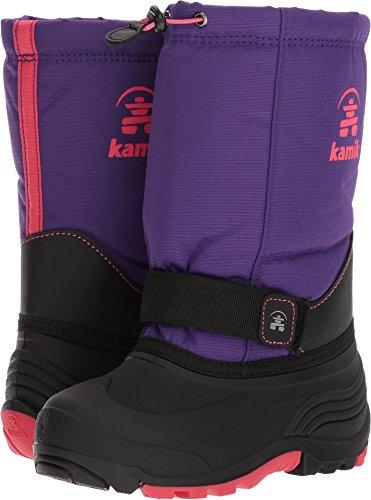 Kamik Girls' Rocket Snow Boot, Purple/Rose, 7 Wide US Big Kid