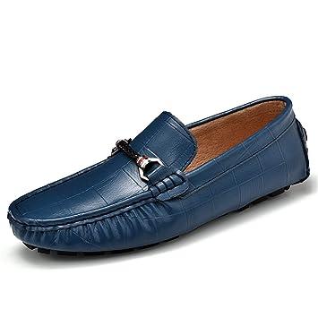Xiazhi-shoes, Mocasines de conducción de Moda Casual de los Hombres Mocasines de Barco