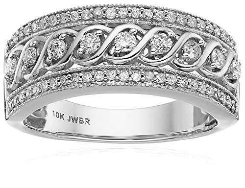 10k White Gold Anniversary Ring (1/2 cttw)