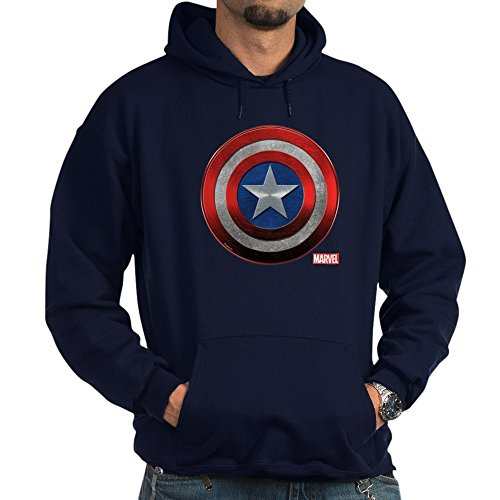 CafePress Captain America Grunge Pullover Hoodie, Classic & Comfortable Hooded Sweatshirt