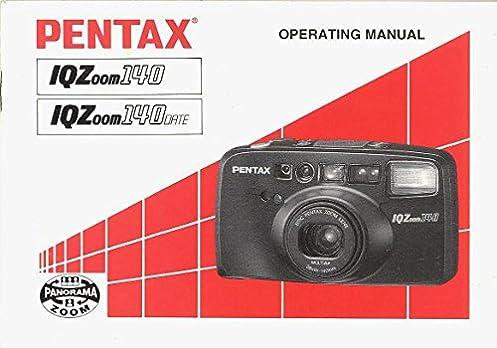 pentax iqzoom 140 iqzoom 140 date original operating manual pentax rh amazon com Camera Parts Pentax IQZoom Pentax IQZoom 70