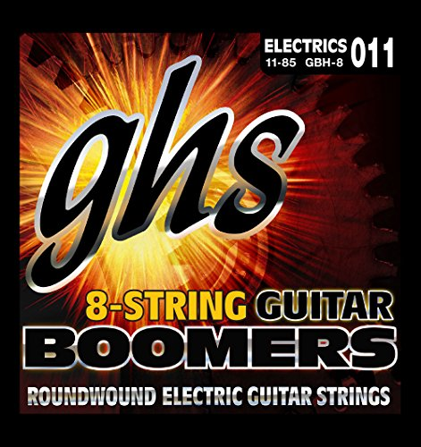 GHS Boomer 8 String Heavy Electric Guitar Set (Boomers Heavy Electric Guitar Strings)