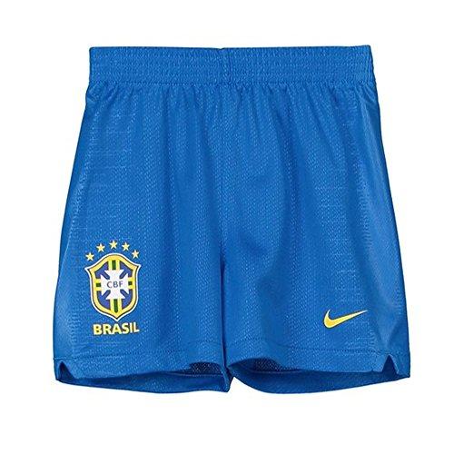 - Nike Kids 2018-2019 Brazil Home Shorts, Blue, Large