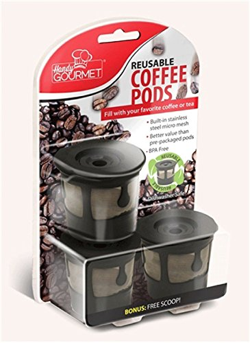 Coffee Pods & K-Cups 3X Reusable Coffee Pods Handy Gourmet Stainless Steel Mesh Filter Non BPA Kcup (Black And Decker 18 Volt Filter compare prices)