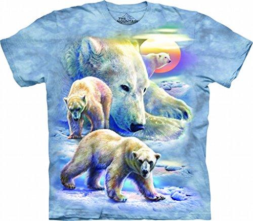 - The Mountain Sunrise Polar Bear Coll Adult T-Shirt, Blue, 2XL