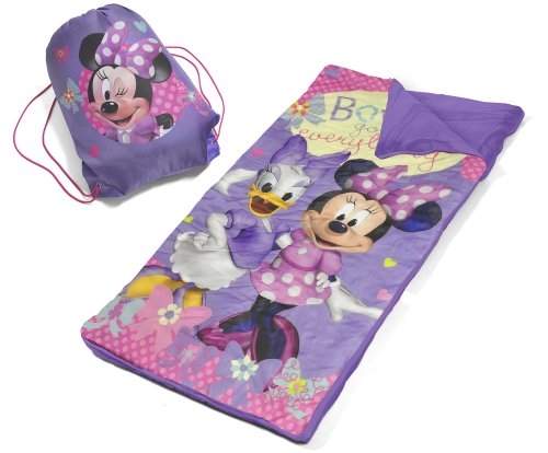 Disney Kids Sleeping Bag makes fun camping activities kids love and adults will too to keep from being bored with fun camping ideas for kids