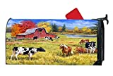 Farm Animals Cow And Horse Customized Magnetic Mailbox Cover Home Garden Cute MailBox Wraps Vinyl with Full-surface Magnet On Back