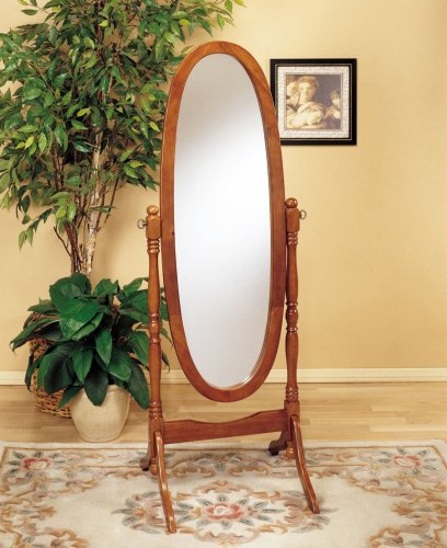 Frenchi Home Furnishing Oak Cheval Mirror