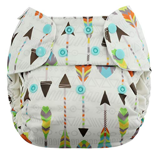 Blueberry Organic One Size Simplex All in One Cloth Diapers, Made in USA (Arrows)