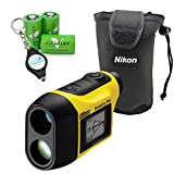 Nikon Forestry Pro Laser Rangefinder Hypsometer Waterproof Construction Precision Measurements Bundle with 3 Extra Viridian CR2 Batteries and a Lumintrail Keychain Light
