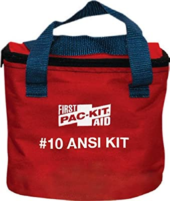 Pac-Kit 7070 74 Piece 10 Person ANSI Compliant First Aid Kit in Fabric Pouch from Pac-Kit