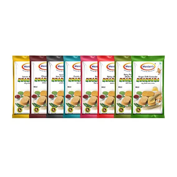Maniarrs Khakhra Combo 8 Flavors In 8 Packs , 360 Grams