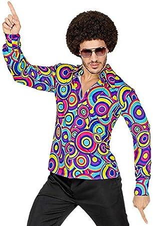 Magic Box Camisa de Discoteca Groovy psicodélico de los años 70 para Hombre XXL (46-48