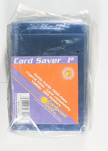 (Card Saver 200 Cardboard Gold 1 Semi-rigid Card Holders -PSA Submission Size)