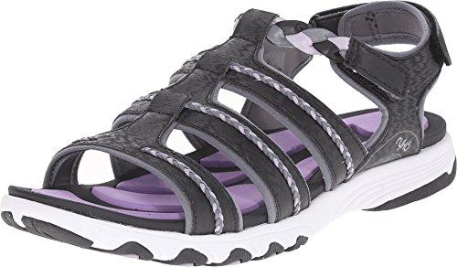 Ryka damisela SML W Open-toe sandalias de sintético deporte Negro