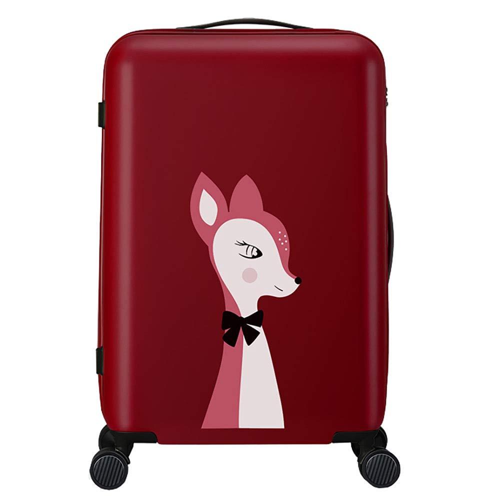 トロリーボックスPC大容量ポータブル出張ミュートキャスタースーツケース(赤)   B07LGBSCDF