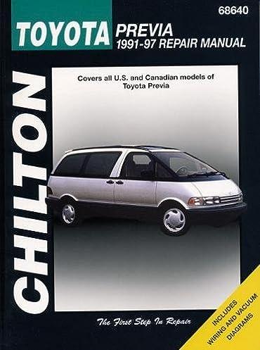toyota previa 1991 97 chilton total car care series manuals rh amazon com 1992 Toyota Previa 1990 Toyota Previa