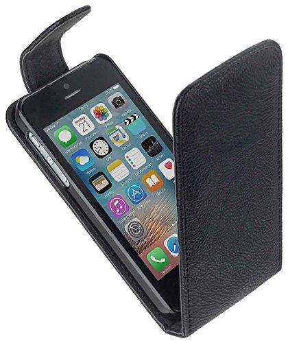 yayago Flip Tasche für Apple iPhone SE Tasche mit Standfunktion und Karteneinschub