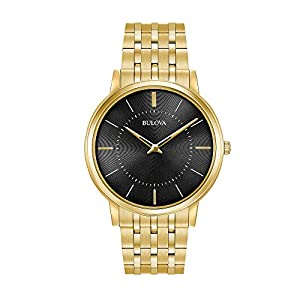 Bulova Men's 40mm Classic Ultra-Slim Stainless Steel Goldtone Bracelet Watch