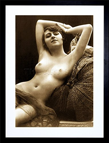 Victorian Nude Risque Vintage Erotic Erotica Sepia Art Framed Art Print Picture & Mount F ()