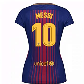 2017-2018 Barcelona Womens Home Football Soccer T-Shirt (Lionel Messi 10)   Amazon.co.uk  Sports   Outdoors 6224f3d0a