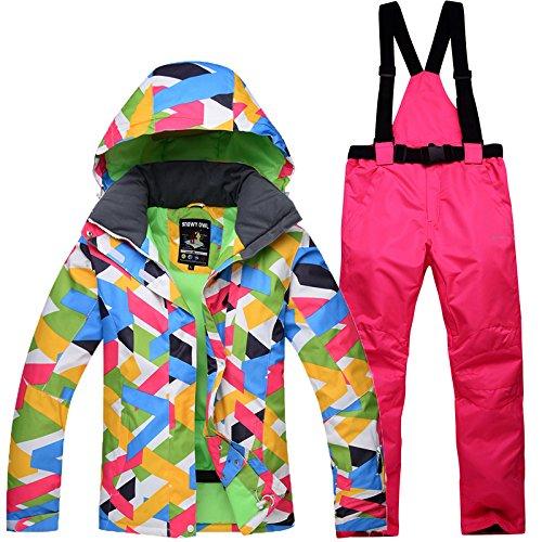 A Medium RUIVEN Vestes de Ski et Pantalons imperméables Coupe-Vent en Plein air Manteaux Vestes de Snowboard, Convient pour Les Hommes Adultes, Femmes,E,XXL